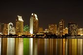 San Diego Skylines At Night