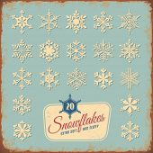 collection of 20 different snowflakes - you may also replace the text and use it for your holiday greetings