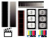Film Strip Backgrounds On White