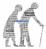 picture of osteoporosis  - Osteoporosis in word collage - JPG