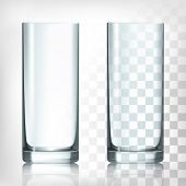 pic of crockery  - Empty drinking glass cup - JPG