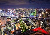 Cityscape of Sendai, Japan.