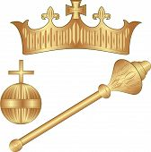 stock photo of scepter  - Crown Regalia  - JPG