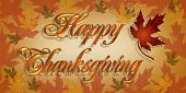 Thanksgiving Karte Grafik 3d text