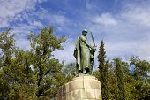Statue of the portuguese first king, in Guimaraes, Portugal