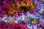 Grunge art style colorful textured abstract digital background - design
