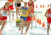 BARCELONA - JULY, 13: Ivan Savka of Ukraine during 3000m steeplechase event the 20th World Junior At