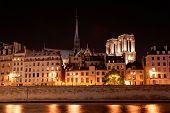 Skyline Of Paris By Night