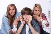 Girls playing computer games