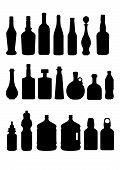 Masked Bottles Illustration Collection