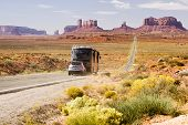 Motorhome In Monument Valley
