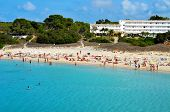 FORMENTERA, SPAIN - SEPTEMBER 19: Cala Saona Beach on September 19, 2012 in Formentera, Balearic Isl