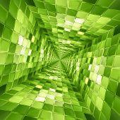 Green mosaic tunnel