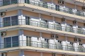 Urban Balconies With Air-conditions