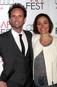 LOS ANGELES - NOV 8:  Walton Goggins, Nadia Conners arrives at the