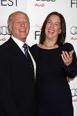 LOS ANGELES - NOV 8:  Frank Marshall, Kathleen Kennedy arrives at the