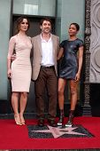 LOS ANGELES - NOV 8:  Berenice Marlohe, Javier Bardem, Naomie Harris at the Hollywood Walk of Fame S