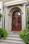 Colonial Mahogany Door In Charleston, South Carolina