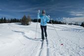 Female cross-country skier