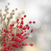 Weihnachten Gold und rot Dekoration