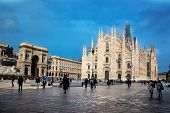 stock photo of piazza  - Milan Cathedral - JPG