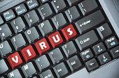 Virus on keyboard