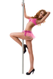 picture of strip tease  - Very attractive girl dancing strip - JPG