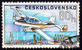 Postage Stamp Czechoslovakia 1967 Aero Taxi L-200, Airplane