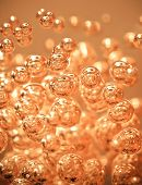Abstract Orange Bubble