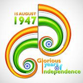 pic of ashok  - illustration of 66th celebration of Independence day of India - JPG