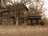 Old Farm House - Sepia