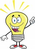 Light Bulb Character With A Bright Idea