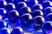 Metallic Blue Marbles