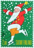 Santa On Skates Stamp