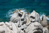 Rock formations in Capo Testa, Sardinia, Italy. Mediterranean coast.Sardinia nature.