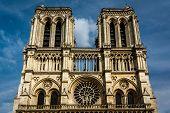 Notre Dame De Paris Cathedral On Cite Island, France