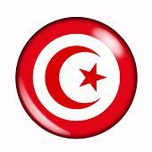 Button Flag Of Tunisia