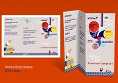 Brochure, Booklet Z-fold Layout. Editable Design Template