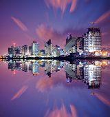 Tel Aviv, Israel high rise resort skyline.