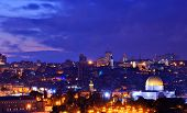 Skyline of the Old City and Temple Mount in Jerusalem, Israel.