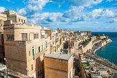 Old Harbor and Victoria gate, Valetta, Malta.