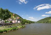 Village Alf Along River Moselle In Germany