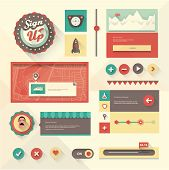 foto of avatar  - Vector set of various elements used for User Interface projects - JPG