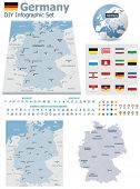 Federal Republic of Germany maps with markers