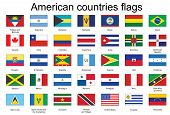 Icons With Flags Of Americas