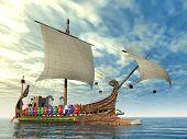 Ancient Roman Warship