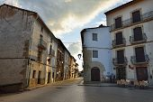 foto of ares  - Streets of the small old town Ares in Spain - JPG