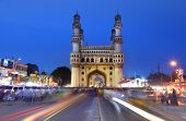 HYDERABAD,INDIA -AUGUST 29: Charminar in Hyderabad on August 29,2012, Is listed among the most recog