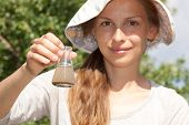 image of groundwater  - researcher testing the water quality - JPG