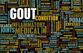 picture of gout  - Gout Concept as a Medical Inflammatory Condition - JPG